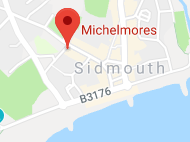 Michelmores Sidmouth map