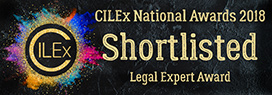 CILEx National Awards 2018 Shortlisted Legal Expert Award