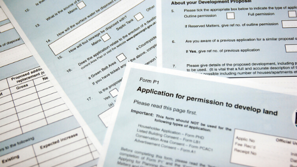 Property planning application form