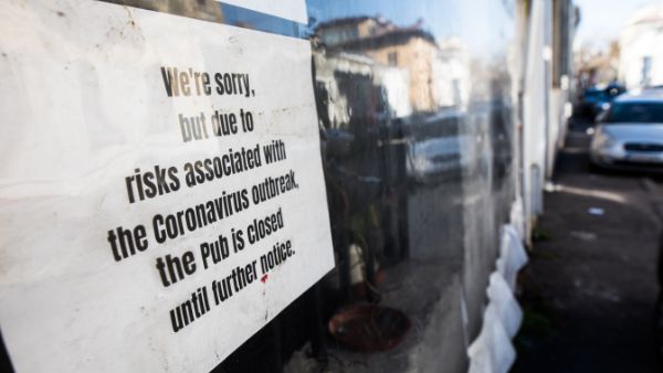 pub closed due to coronavirus