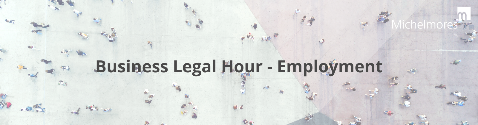 poster for Business Legal Hour series of webinars