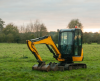 Digger in a field